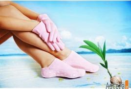 Увлажняющие силиконовые гелевые носки и перчатки